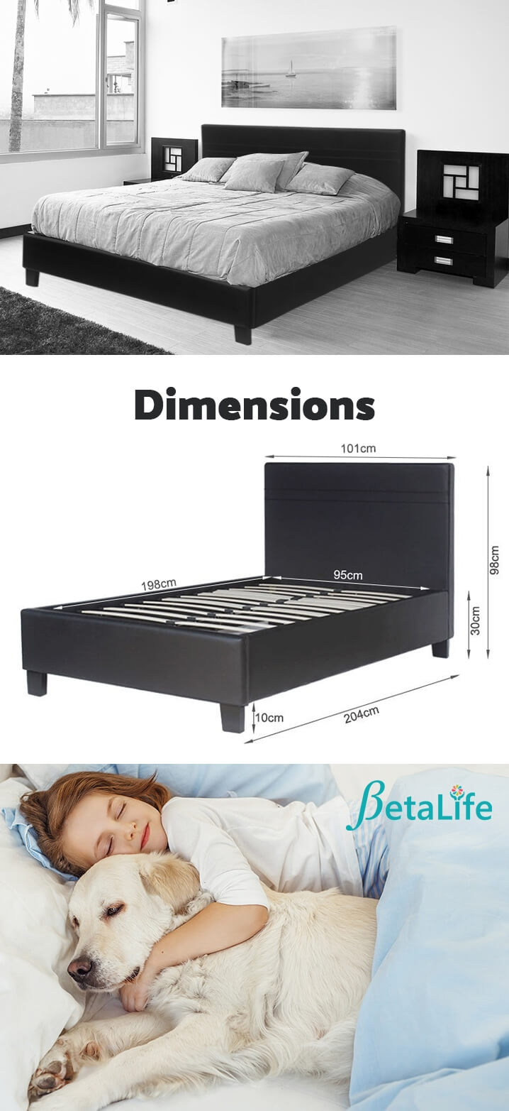 SINGLE Slat Bed with Headboard