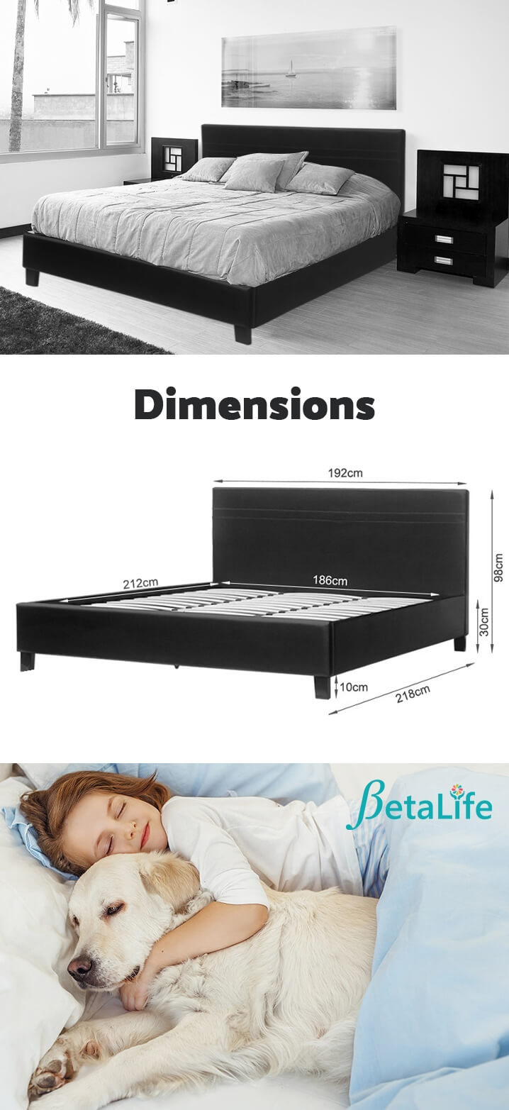 SUPER KING Slat Bed with Headboard