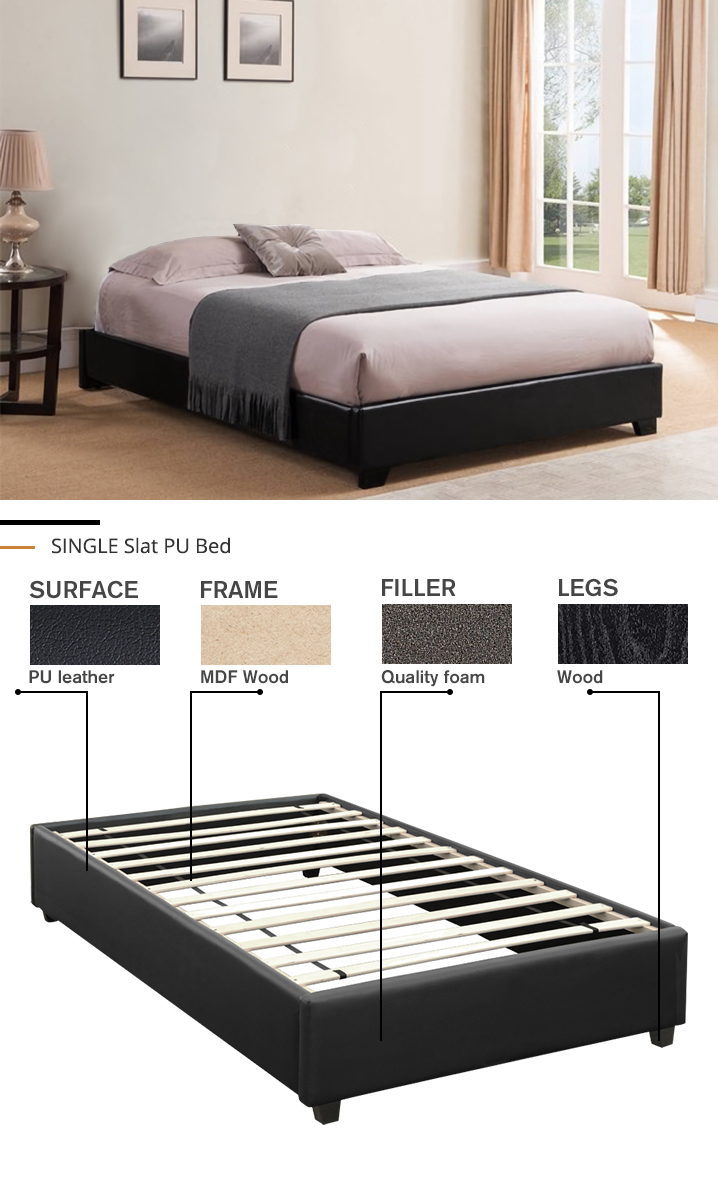 SINGLE Slat Bed