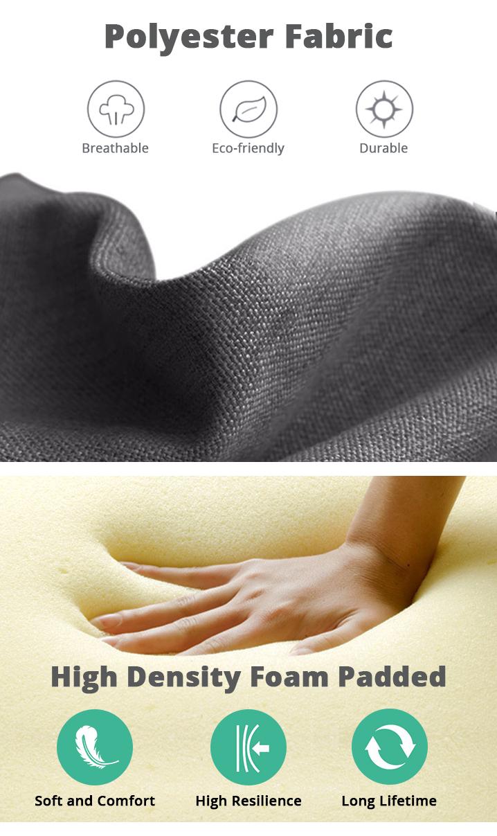 AORAKI Fabric Slat Bed with Headboard - QUEEN BED