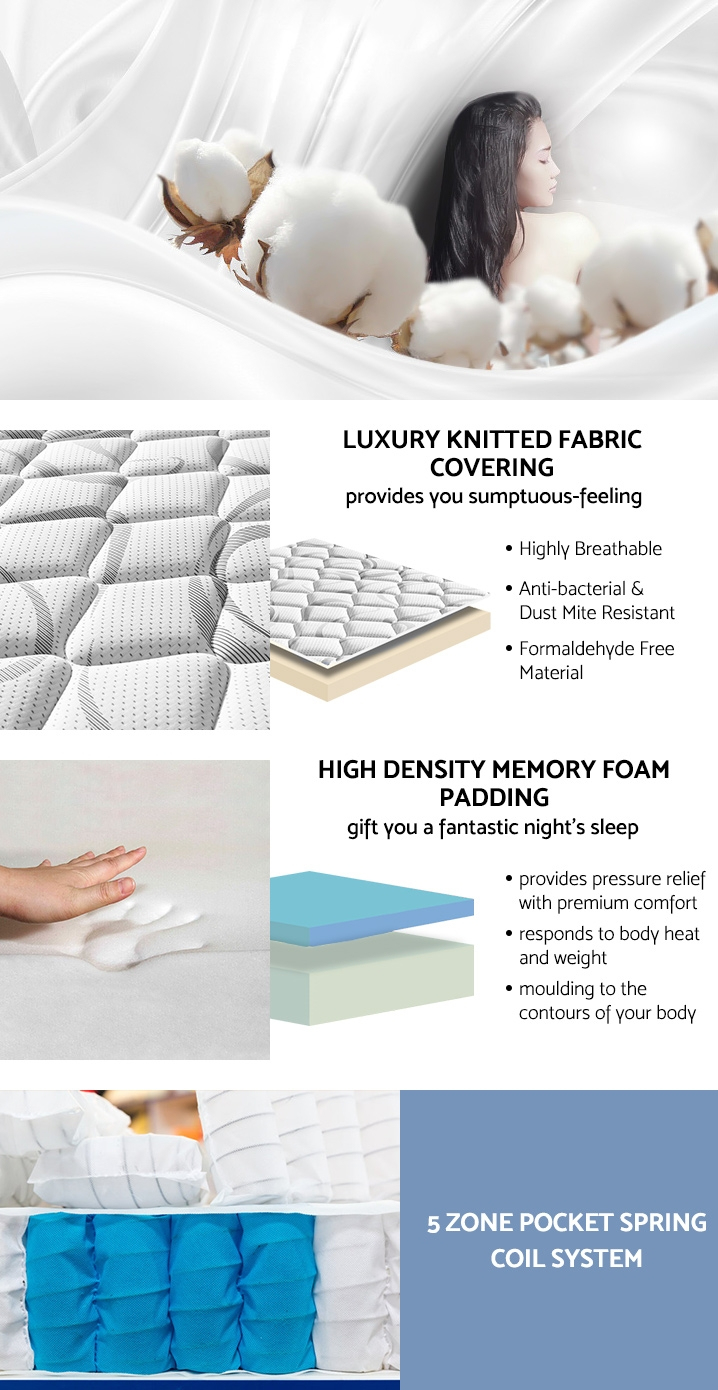 Betalife Ultra Comfort Memory Foam Mattress – KING SINGLE