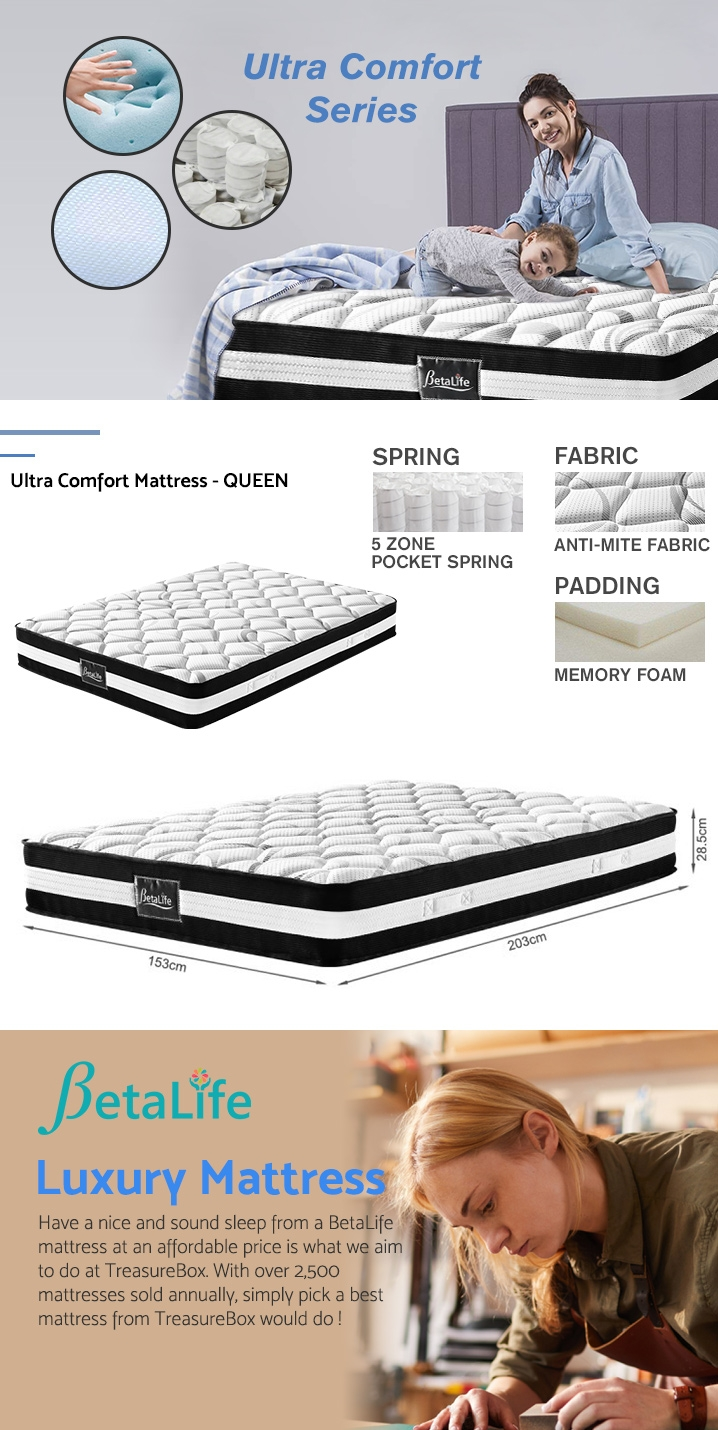 Betalife Ultra Comfort Memory Foam Mattress - QUEEN