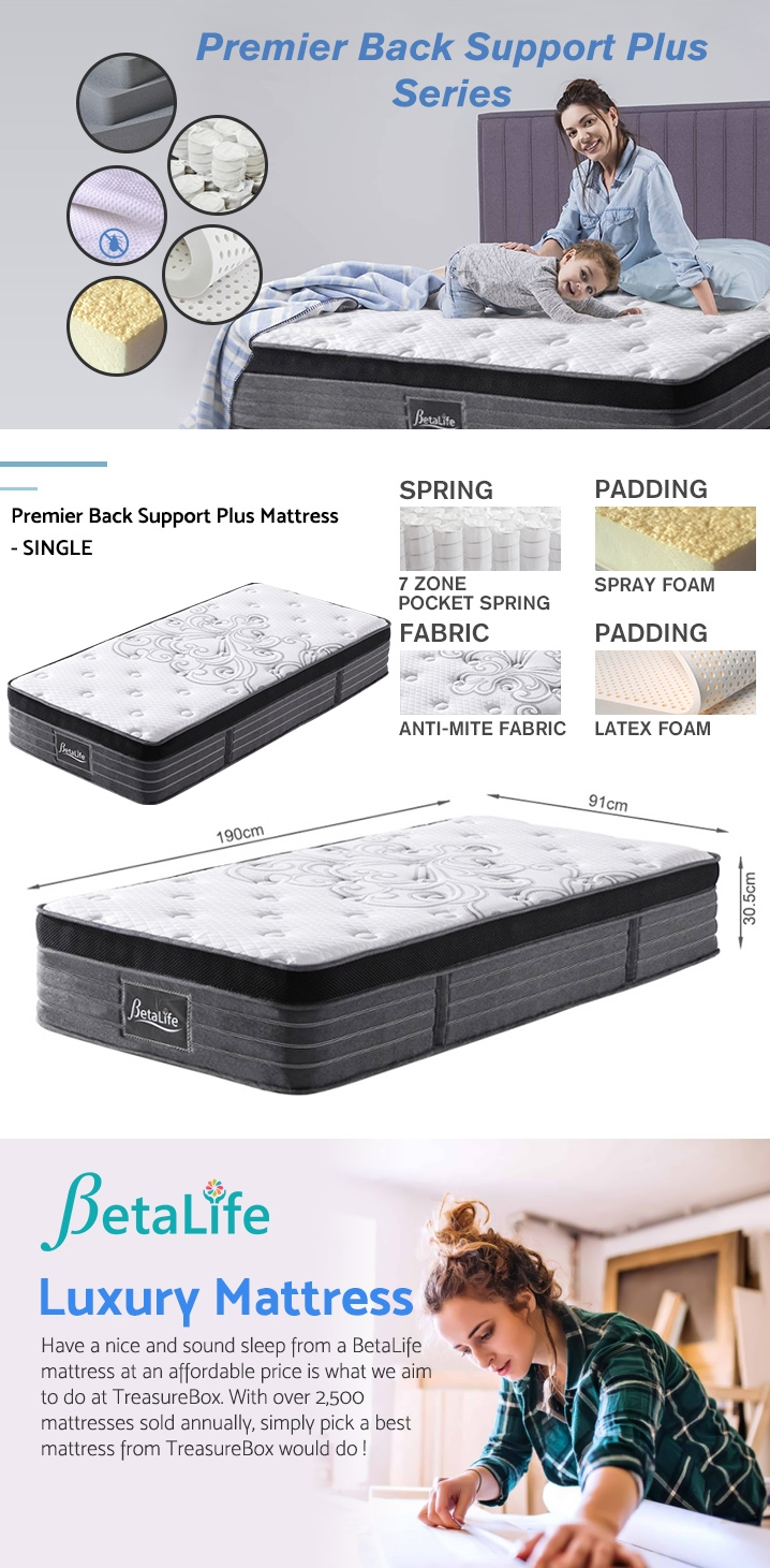 BetaLife Premier Back Support Plus Mattress - single