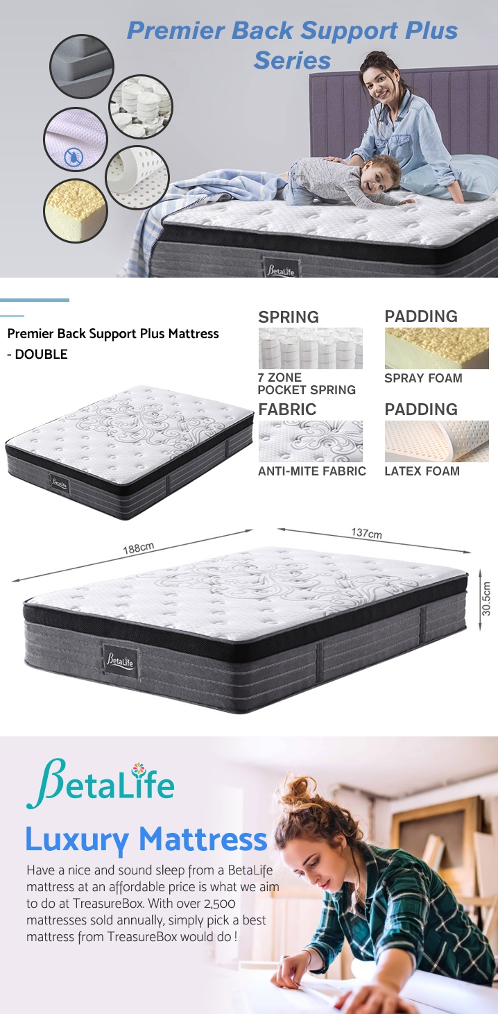 BetaLife Premier Back Support Plus Mattress - DOUBLE