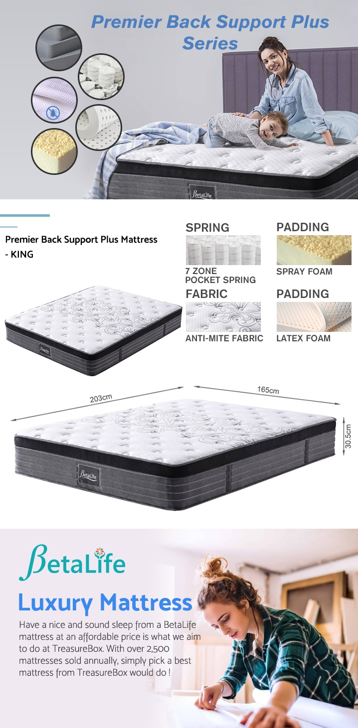 BetaLife Premier Back Support Plus Mattress - KING