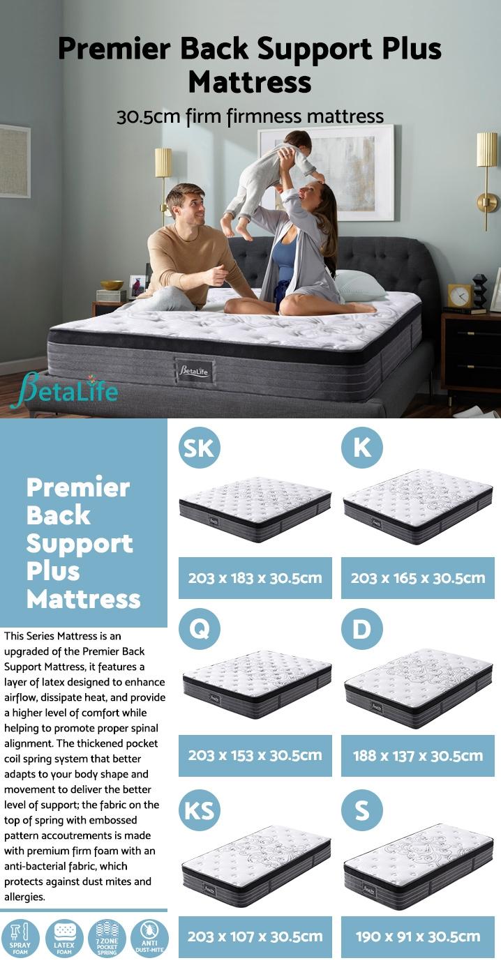 BetaLife Premier Back Support Plus Mattress - SUPER KING