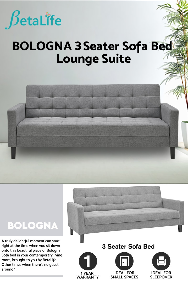 BOLOGNA 3 Seater Sofa Bed Lounge Suite