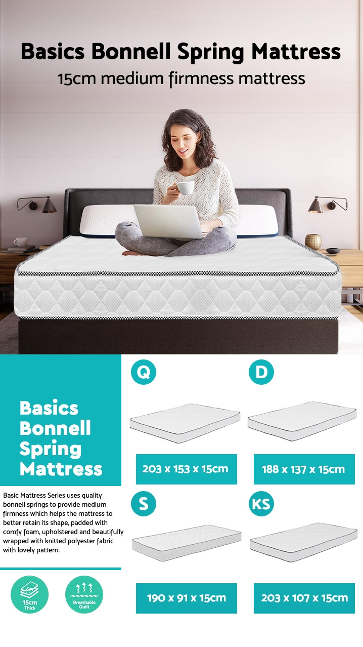Basic Bonnell Spring Mattress - double
