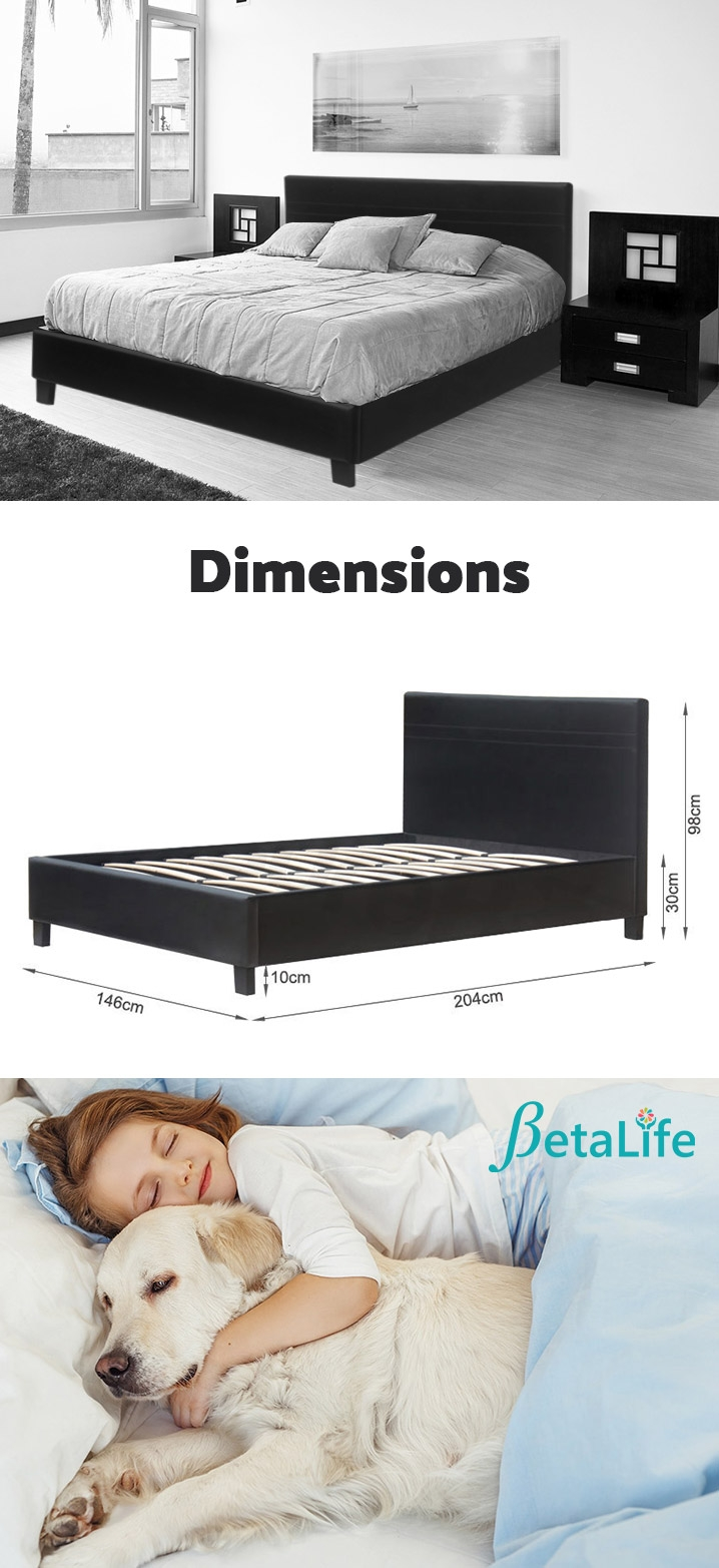 DOUBLE Slat Bed with Headboard