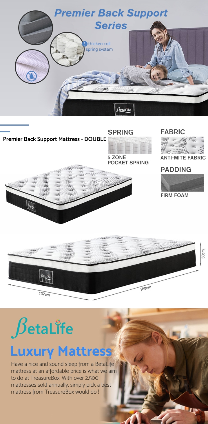 Betalife Premier Back Support Mattress - DOUBLE