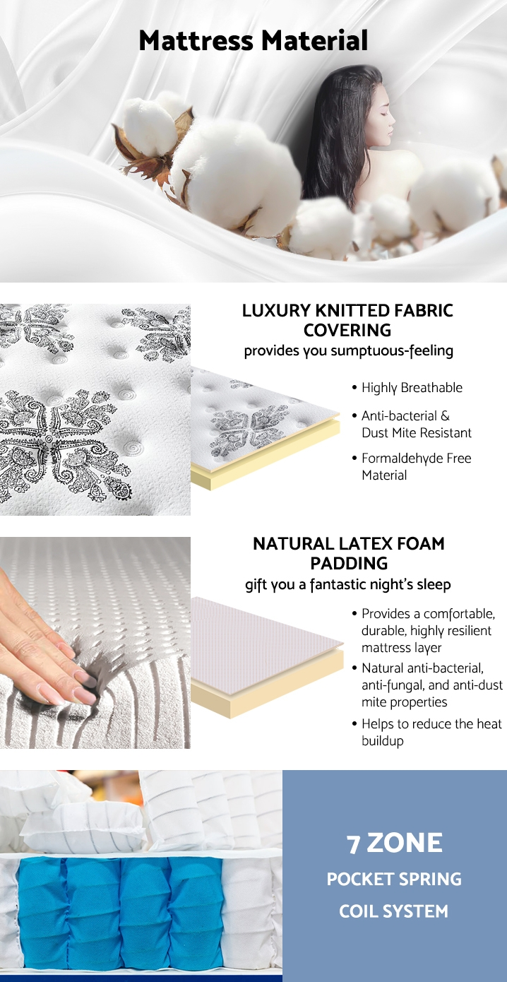 Betalife Luxury Latex Mattress - KING SINGLE