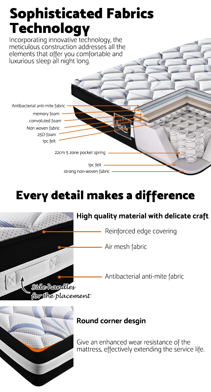 Betalife Ultra Comfort Memory Foam Mattress - KING