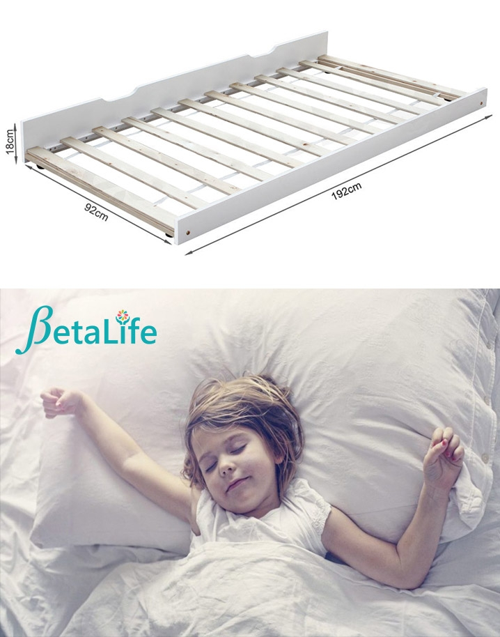 LAILA Wooden Trundle Bed - SINGLE