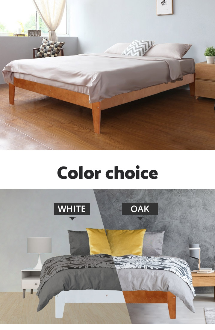 MERI Wooden Slat Bed Base - KING SINGLE