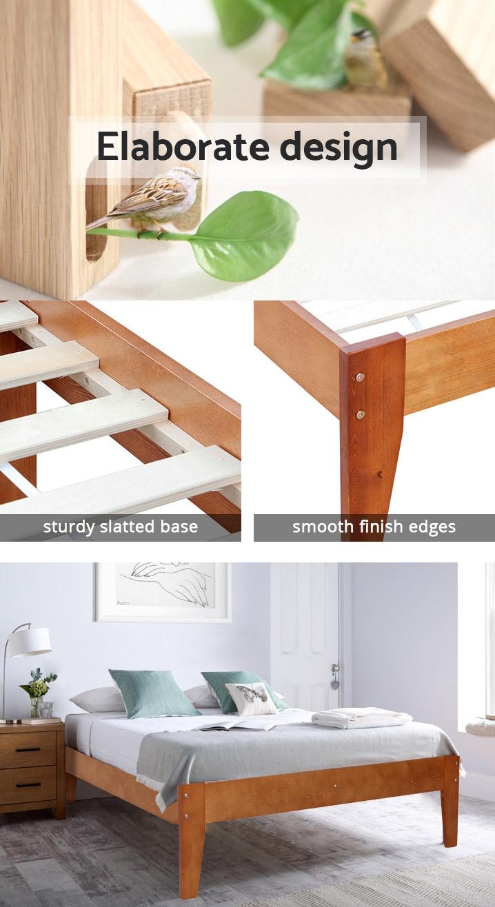 MERI Wooden Slat Bed Base - SINGLE