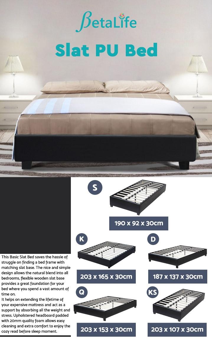 SINGLE Slat Bed