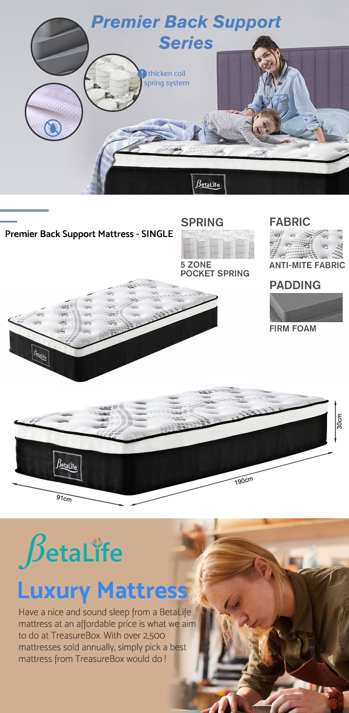 Betalife Premier Back Support Mattress - SINGLE
