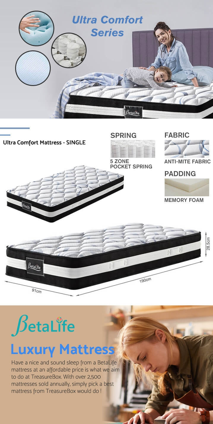 Betalife Ultra Comfort Memory Foam Mattress - SINGLE